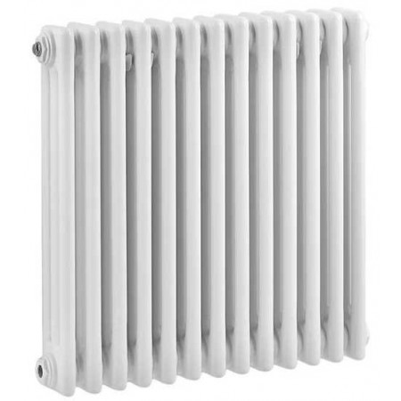 Hudson Reed Horizontal Wall Mounted Colosseum Radiator - H600 x W606mm - High Gloss White