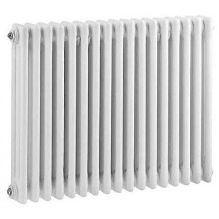 Hudson Reed Horizontal Wall Mounted Colosseum Radiator - H600 x W786mm - High Gloss White