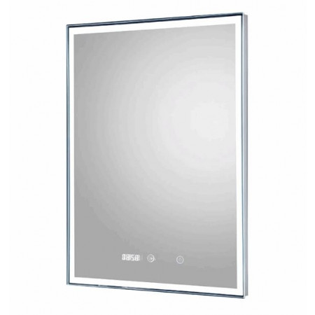 Hudson Reed Lustre LED Touch Sensor Mirror with Clock & De-mister Pad ×saved