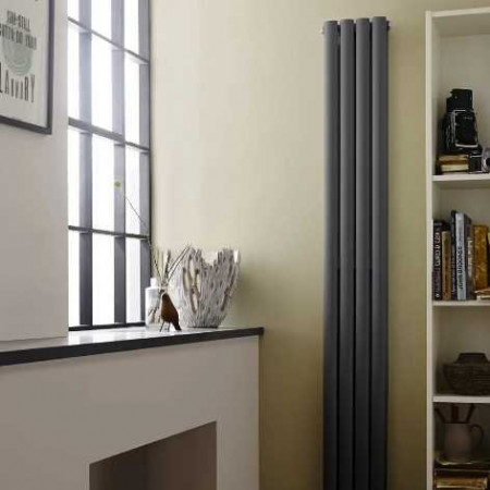 Hudson Reed Revive Compact Double Panel Radiator - Anthracite