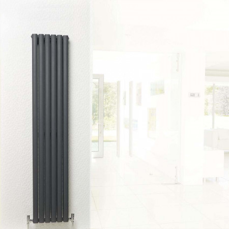 Hudson Reed Revive Double Panel Designer Radiator 1500 x 355 Anthracite HLA76