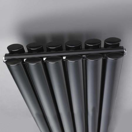Hudson Reed Revive Double Panel Designer Radiator 1500 x 355 High Gloss Black HLB76