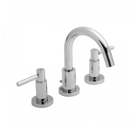 Hudson Reed Tec Lever 3 Tap Hole Basin Mixer with Pop Up Waste