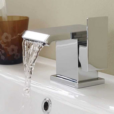 Hudson Reed Vent Mono Basin Mixer with Push Button Waste