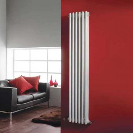 Hudson Reed Wall Mounted Colosseum Radiator - H1500 x W291mm - White