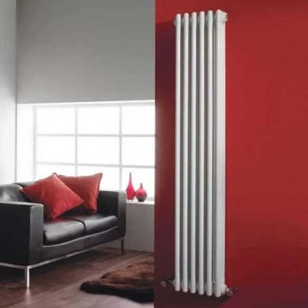 Hudson Reed Wall Mounted Colosseum Radiator - H1800 x W291mm - White
