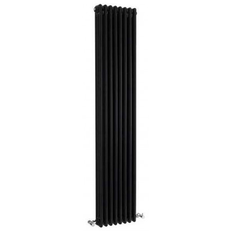 Hudson Reed Wall Mounted Colosseum Radiator - H1800 x W381mm - High Gloss Black