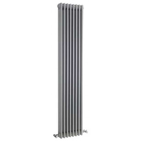 Hudson Reed Wall Mounted Colosseum Radiator - H1800 x W381mm - High Gloss Silver