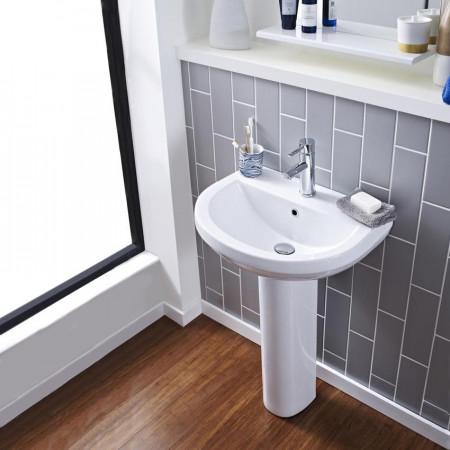 Ivo 550mm Basin And Pedestal