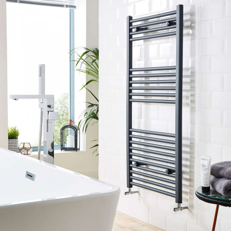 Kartell K-Rail Anthracite 22mm Straight Towel Rail Room Setting