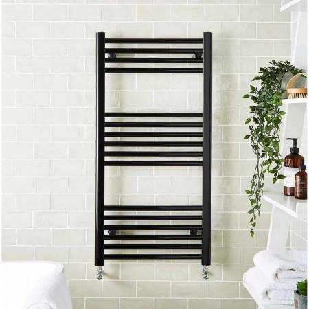 Kartell K-Rail Black 22mm Straight Towel Rail