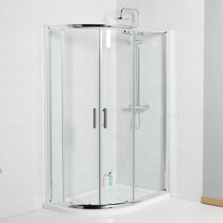 Kartell Koncept Offset Quadrant Shower Enclosure 900 x 760mm