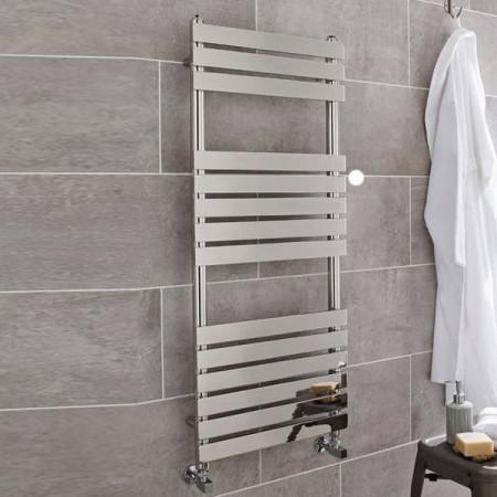Kartell Memphis Straight Chrome Plated Towel Rail 500 x 1200mm MEM500-1200