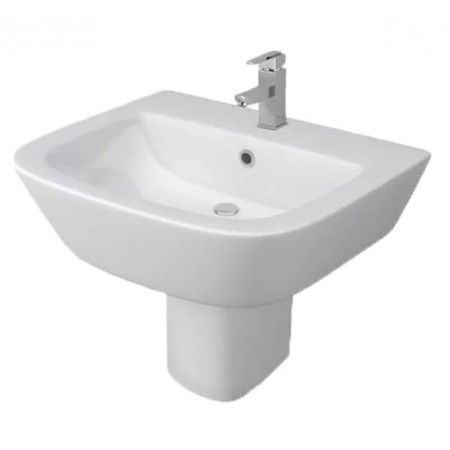 Kartell Project Round 530mm 1th Basin with Semi Pedestal