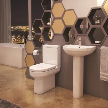 Kartell Bijou 1TH 500mm Basin & Pedestal Room Setting