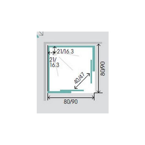 Kinedo Horizon 800x800mm Corner Slider Thermostatic Shower Pod