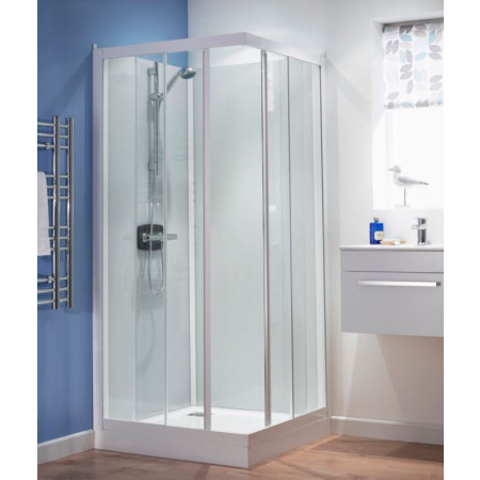 Kinedo Kineprime Glass 700 x 700mm Corner Slider Shower Cubicle