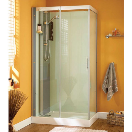 Kinedo Moonlight 1100 x 800 self-contained corner shower cubicle