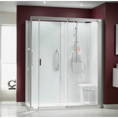 shower cubicles self contained. Kinemagic Serenity 1600 X 700mm Corner Slider Shower Cubicle Cubicles Self Contained O