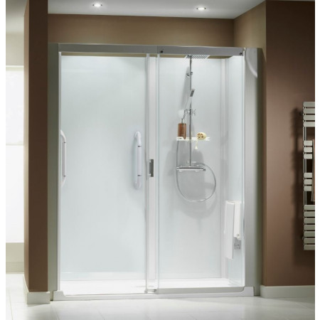 shower cubicles self contained. Kinemagic Serenity 1600 X 800mm Recess Sliding Shower Cubicle Cubicles Self Contained C
