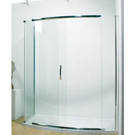Kudos Infinite 1700mm Bowed Sliding Door Enclosure with Side Access 4BOWS170