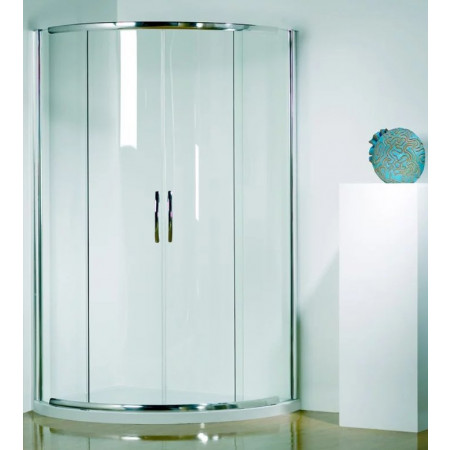 Kudos Infinite 910mm Curved Sliding Door Enclosure with Centre Access 4CD91S