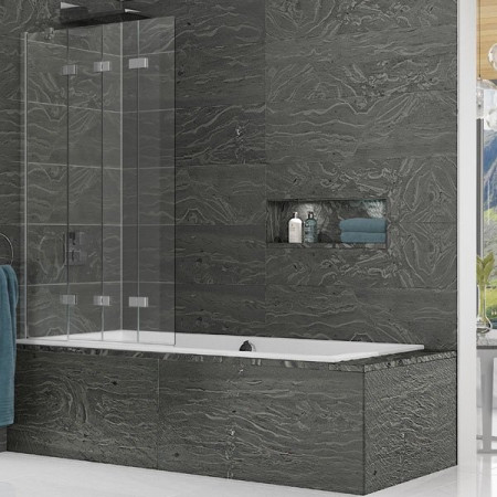Kudos Inspire 4 Panel In-Fold Path Screen 1500 x 950mm LH - 6mm Glass