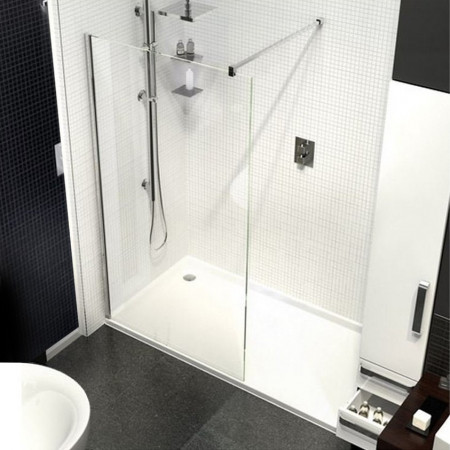 Kudos Ultimate 1600mm Complete Walk-in Recess Enclosure Package