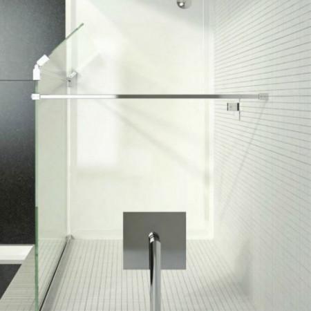 Kudos Ultimate 2 700mm Wetroom Panel 8mm Glass with Matt Black Profile