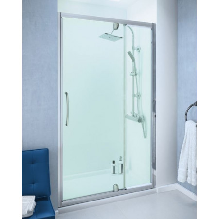 Lakes 1000mm Semi Frameless Pivot Door with In-line Panel