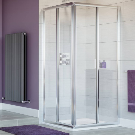Lakes Bathrooms 900mm Corner Entry Shower Enclosure