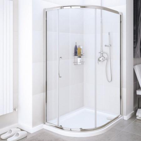 Lakes Classic 900 x 760mm Single Door Offset Quadrant Enclosure
