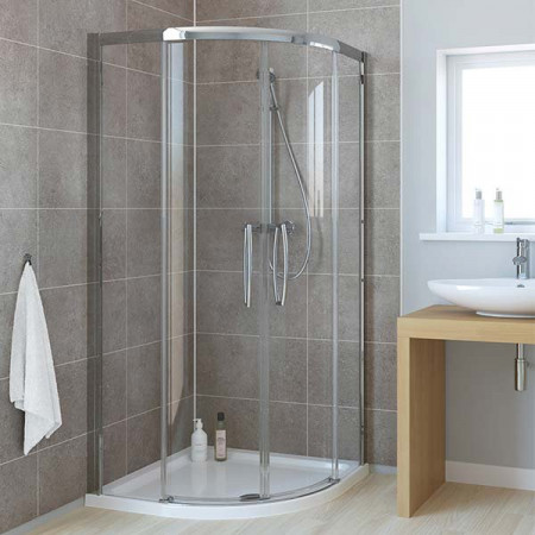 Lakes Low Threshold 1000 x 1000mm Double Door Quadrant Shower Enclosure
