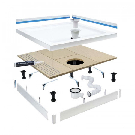 MX Classic Stone Resin Rectangular Shower Tray 1000 x 800mm