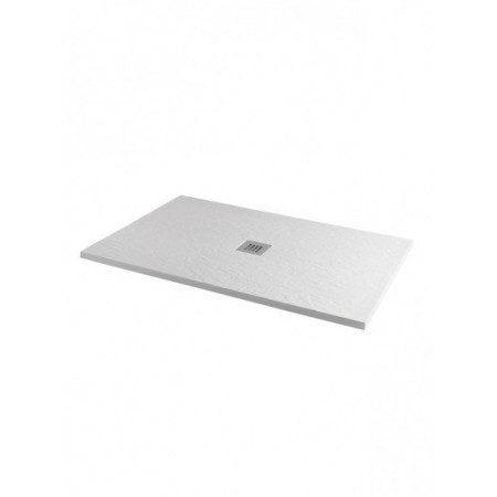 MX Minerals 1600 X 800mm Rectangle Ice White Shower Tray