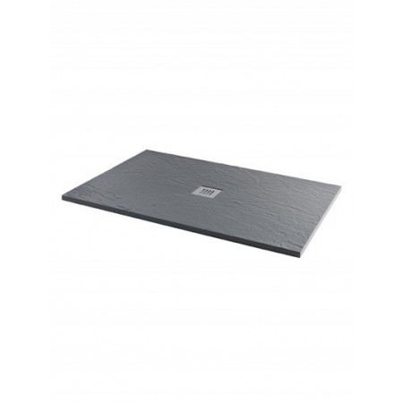 MX Minerals 1700 x 750mm Rectangle Ash Grey Shower Tray