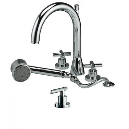 Marflow Exena Cross Head Four Hole Bath Shower Mixer