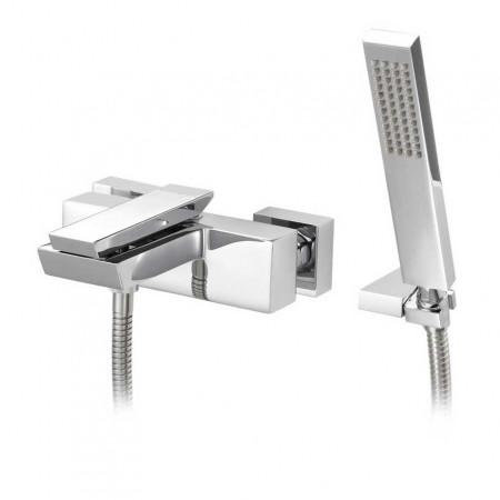 Marflow Oblique Wall Mounted Bath/Shower Mixer With shower kit & swivel wall bracket OBL350K1