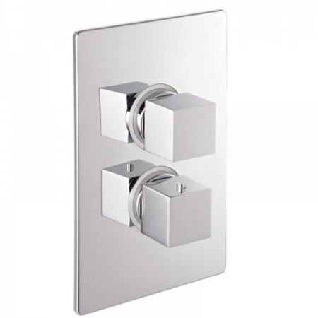 Marflow Phase 4 Thermostatic Shower Valve With 2 Way Diverter and Brass Concealing Plate