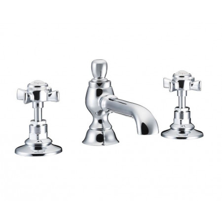 Marflow St James England Handle Three Hole Basin Mixer Colonial Spout