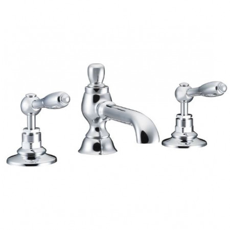 Marflow St James England Lever Three Hole Basin Mixer Colonial Spout