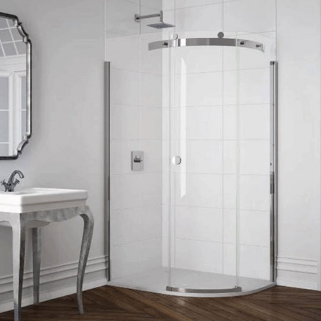 Merlyn 10 Series 1 Door Offset Quadrant Shower Enclosure 1000 x 800mm Right Hand with MStone Tray