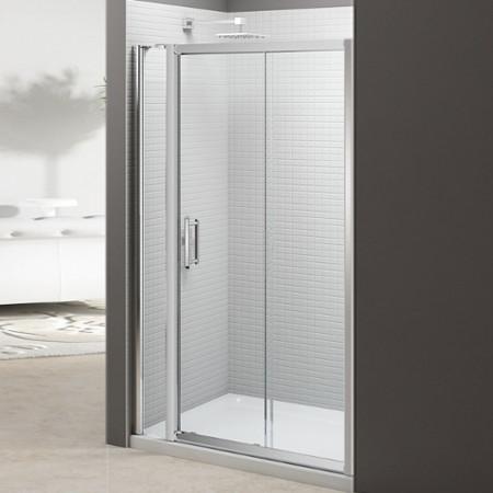 Merlyn 6 Series 1400mm Sliding Door with Inline Panel