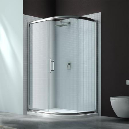 Merlyn 6 Series 760 x 900 1 Door Offset Quadrant Shower Enclosure