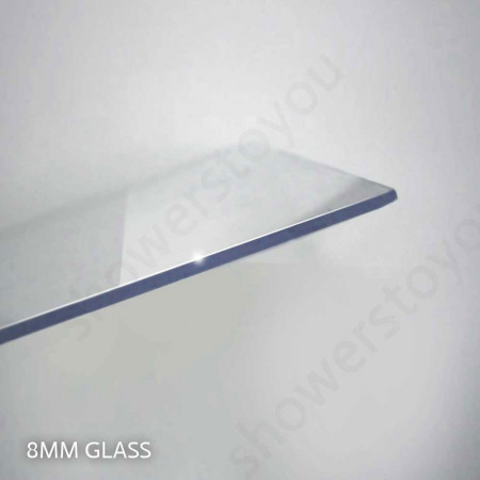 Merlyn 8 Series 1400mm Sliding Shower Door and Inline Panel