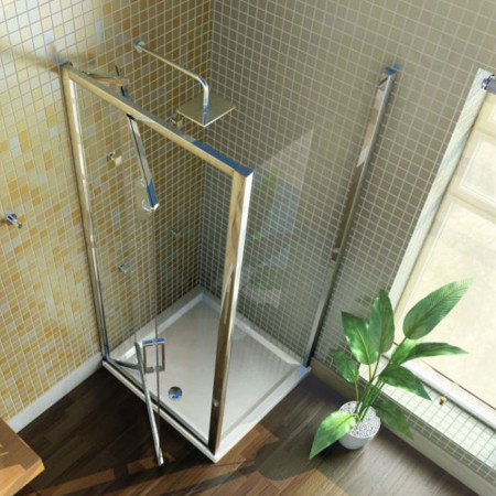 Merlyn 8 Series 900 Infold Shower Door with Tray