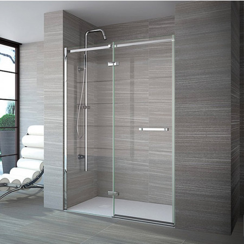 Merlyn 8 Series Frameless 1400mm Hinge & Inline Shower Door