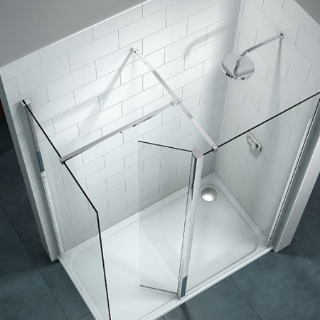 Merlyn 8 Series Showerwall with Swivel Panel 700mm