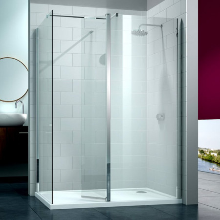 Merlyn 8 Series Walk In with Swivel Panel 1400 x 900mm Frameless Enclosure