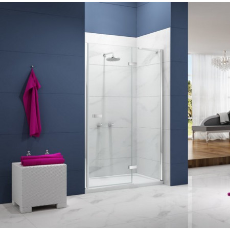 Merlyn Ionic Essence 760mm Hinge Shower Door and Inline Panel